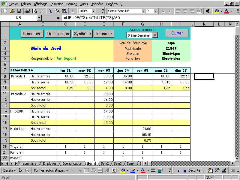 T l charger factures devis bon de commande fax planning sous excel - Grille d evaluation d un employe ...